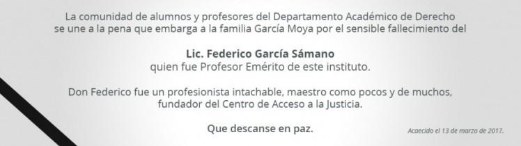 Lic. Federico García Sámano